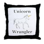 Unicorn Wrangler Throw Pillow