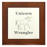 Unicorn Wrangler Framed Tile