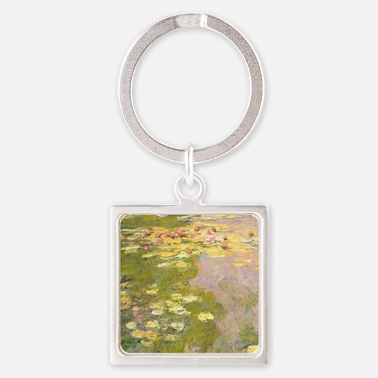 Water lilies Square Keychain
