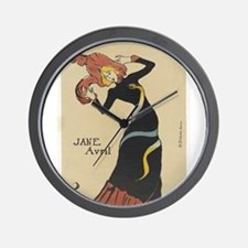 Vintage poster - Jane Avril Wall Clock