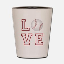 Love Baseball Shot Glass