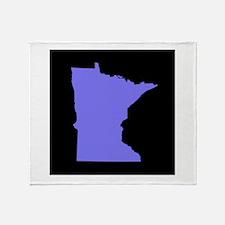 minnesota purple black Throw Blanket