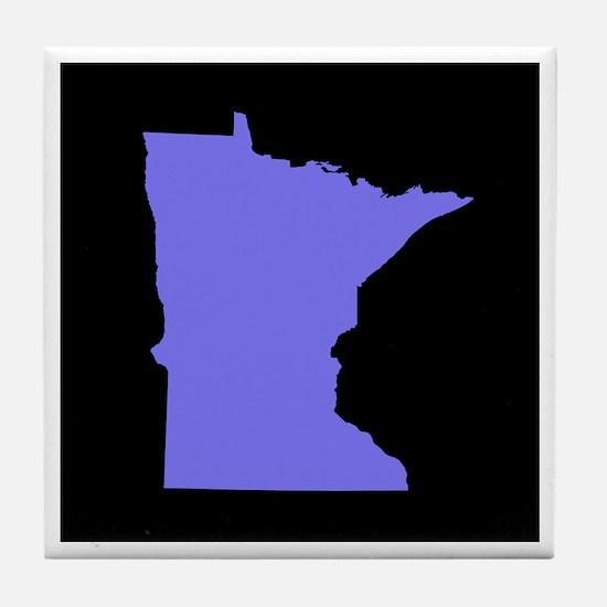 minnesota purple black Tile Coaster