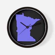 minnesota purple black Wall Clock