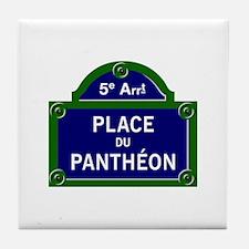 Place du Panthéon, Paris - France Tile Coaster