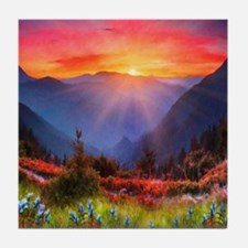 High Country Sunset Tile Coaster