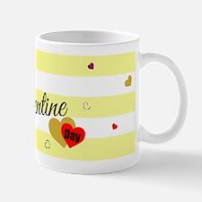 Cute Happy Valentine Day (Yellow 2) Mugs