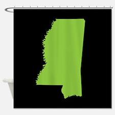 mississippi green black Shower Curtain