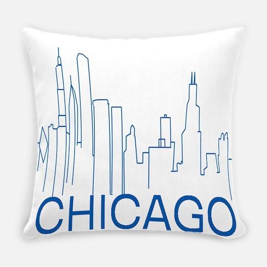 Chicago Blue Line Everyday Pillow
