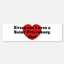 Saint Petersburg girl Bumper Bumper Bumper Sticker