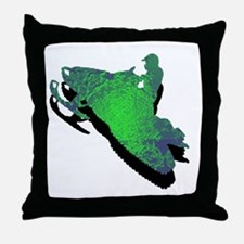 Unique Snowmobiling Throw Pillow