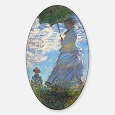 Unique Monet woman with parasol Decal