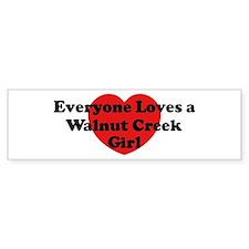 Walnut Creek girl Bumper Bumper Bumper Sticker