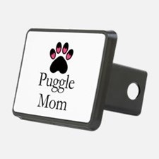 Puggle Dog Mom Paw Print Hitch Cover