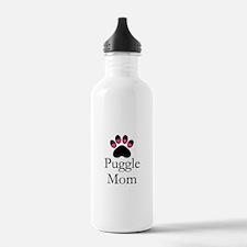 Puggle Dog Mom Paw Print Water Bottle