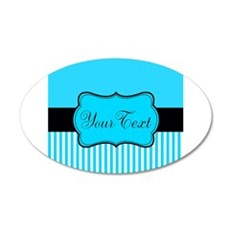 Personalizable Teal White Black Wall Decal