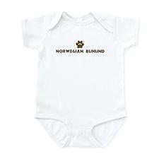 Norwegian Buhund (dog paw) Infant Bodysuit