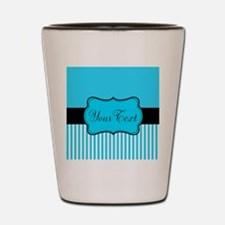 Personalizable Teal White Black Shot Glass
