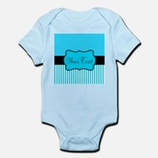 Personalizable Teal White Black Body Suit