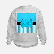Personalizable Teal White Black Sweatshirt