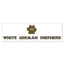 White German Shepherd (dog pa Bumper Bumper Sticker
