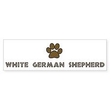 White German Shepherd (dog pa Bumper Car Sticker