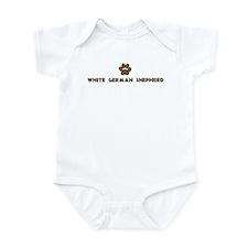 White German Shepherd (dog pa Infant Bodysuit