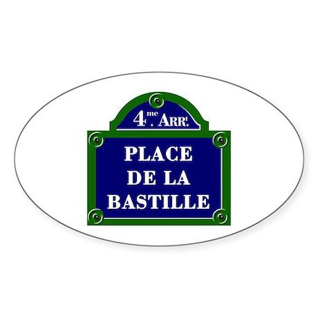Place de la Bastille, Paris - France Sticker (Oval