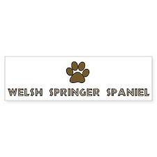 Welsh Springer Spaniel (dog p Bumper Bumper Sticker