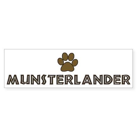 Munsterlander (dog paw) Bumper Sticker