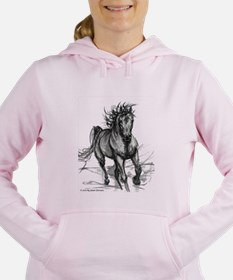 Cool Hunter horses Women's Hooded Sweatshirt