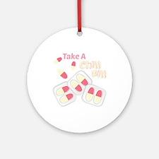 Chill Pill Round Ornament