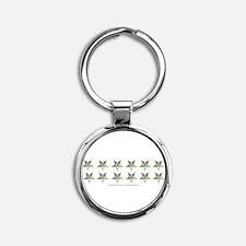 Cute Order of eastern star Round Keychain