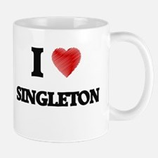 I Love Singleton Mugs