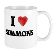I Love Simmons Mugs