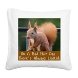 Funny squirrel Square Canvas Pillows