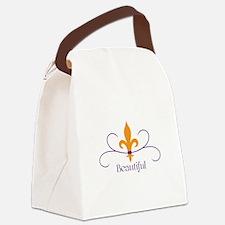Beautiful Fleur Canvas Lunch Bag