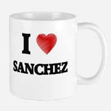 I Love Sanchez Mugs