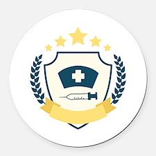 Nursing Emblem Round Car Magnet