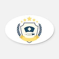 Nursing Emblem Oval Car Magnet
