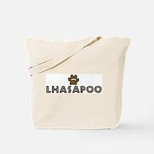 Lhasapoo (dog paw) Tote Bag