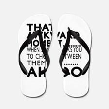 Aikido Awkward Moment Designs Flip Flops
