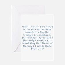 Street of Blessings Greeting Cards