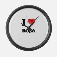 I Love Rosa Large Wall Clock