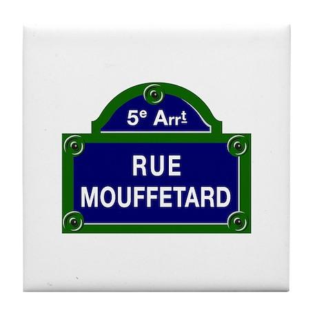 Rue Mouffetard, Paris - France Tile Coaster