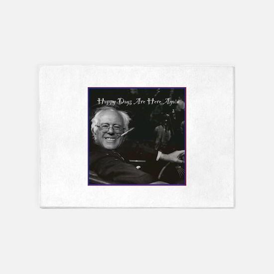 Bernie as FDR 5'x7'Area Rug