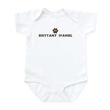 Brittany Spaniel (dog paw) Infant Bodysuit