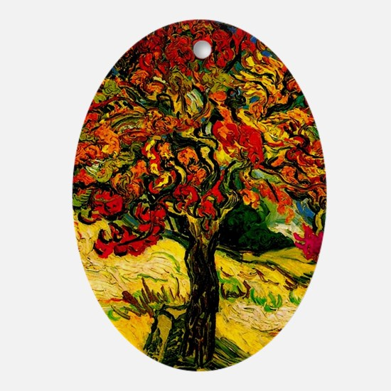Cute Van gogh Oval Ornament