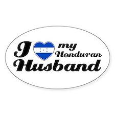 I love my Honduran Husband Oval Decal