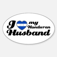 I love my Honduran Husband Oval Decal